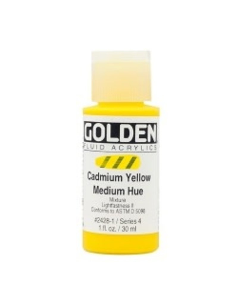 Golden Fluid Cadmium Yellow Medium Hue  1Oz