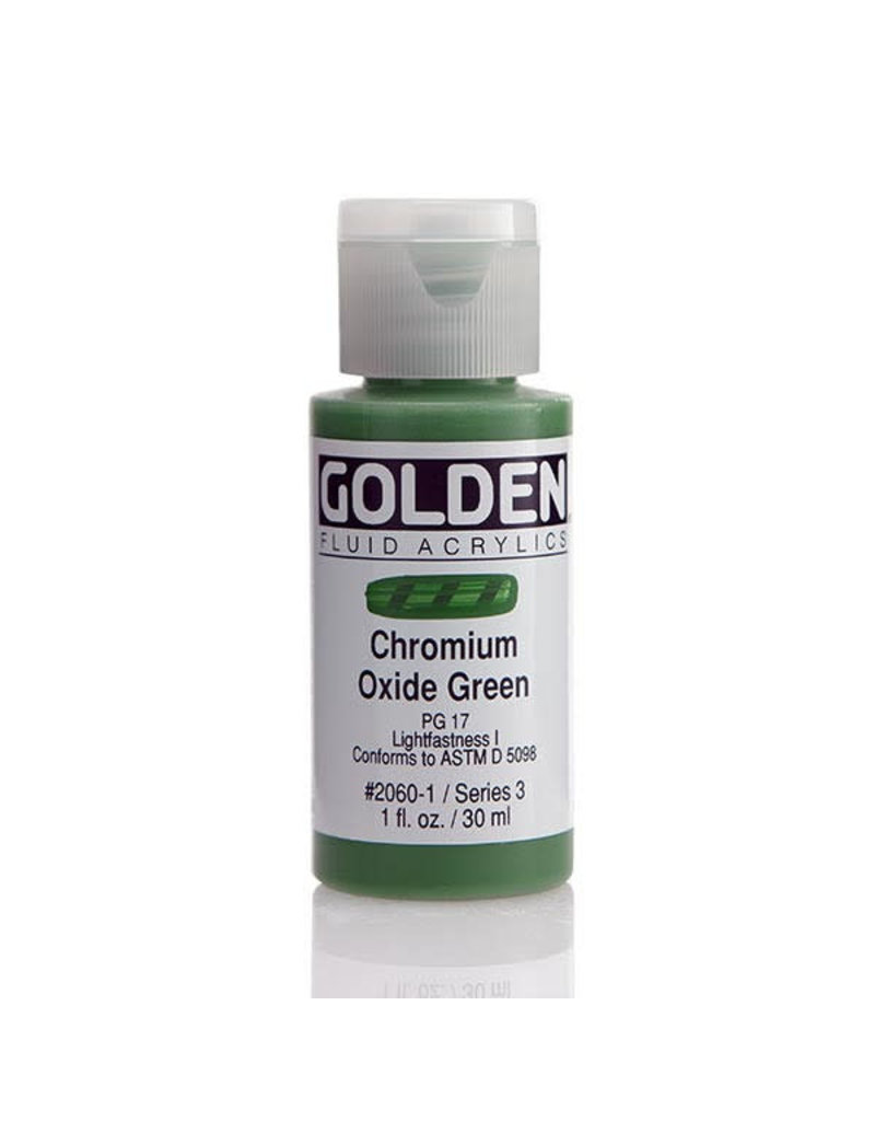 Golden Fluid Chromium Oxide Green  1Oz