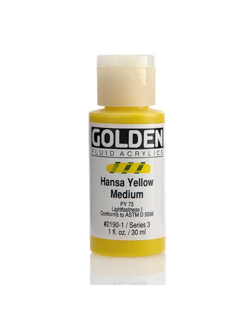 Golden Fluid Hansa Yellow Med.  1Oz