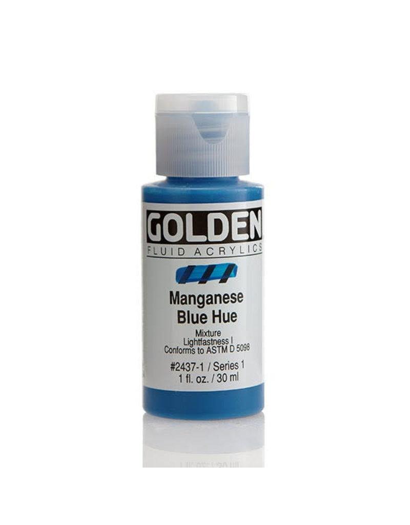 Golden Fluid Hist. Manganese Blue Hue  1Oz