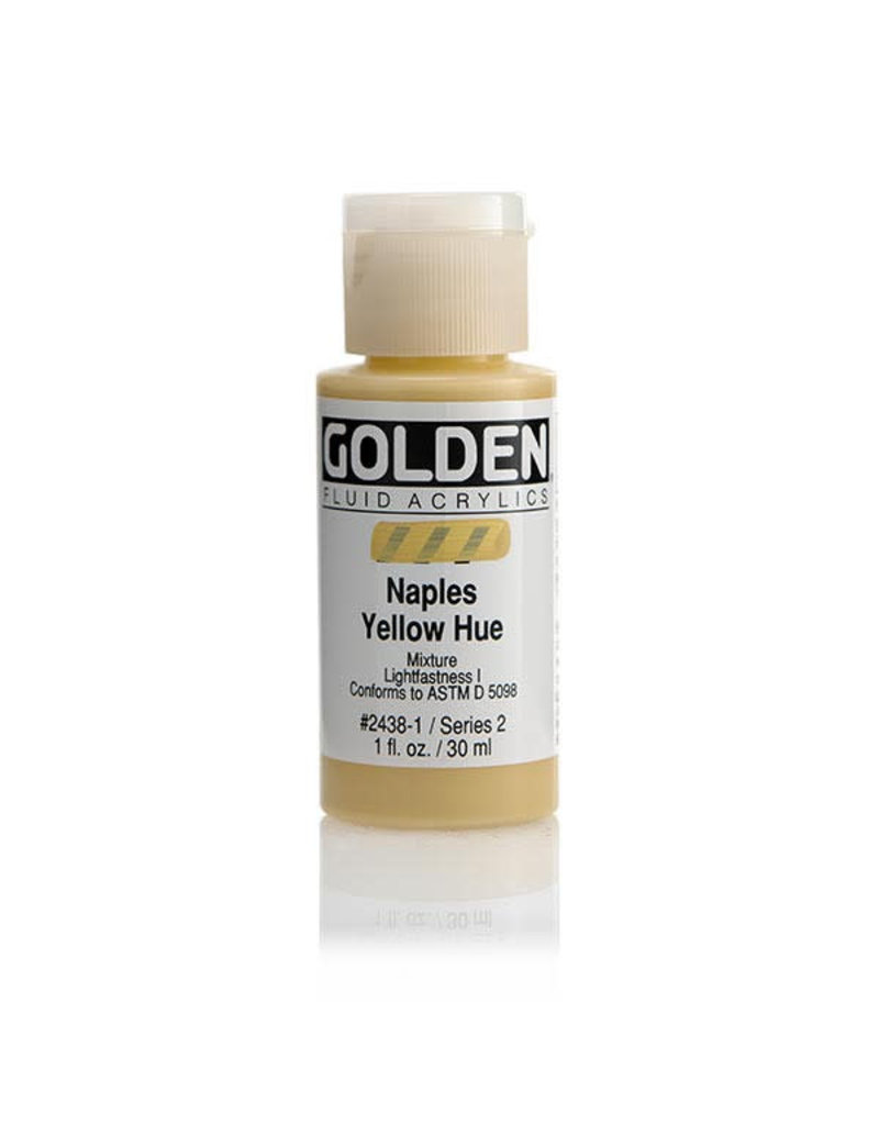 Golden Fluid Hist. Naples Yellow Hue  1Oz