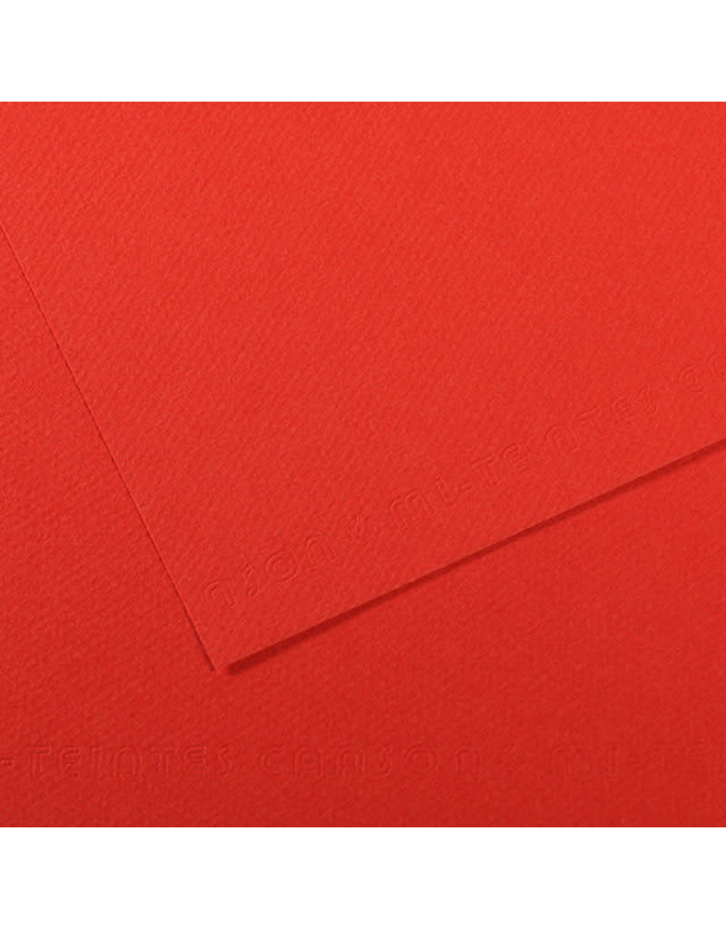 """Canson Mi-Teintes Paper Sheets, 19"""" x 25"""", Poppy Red"""