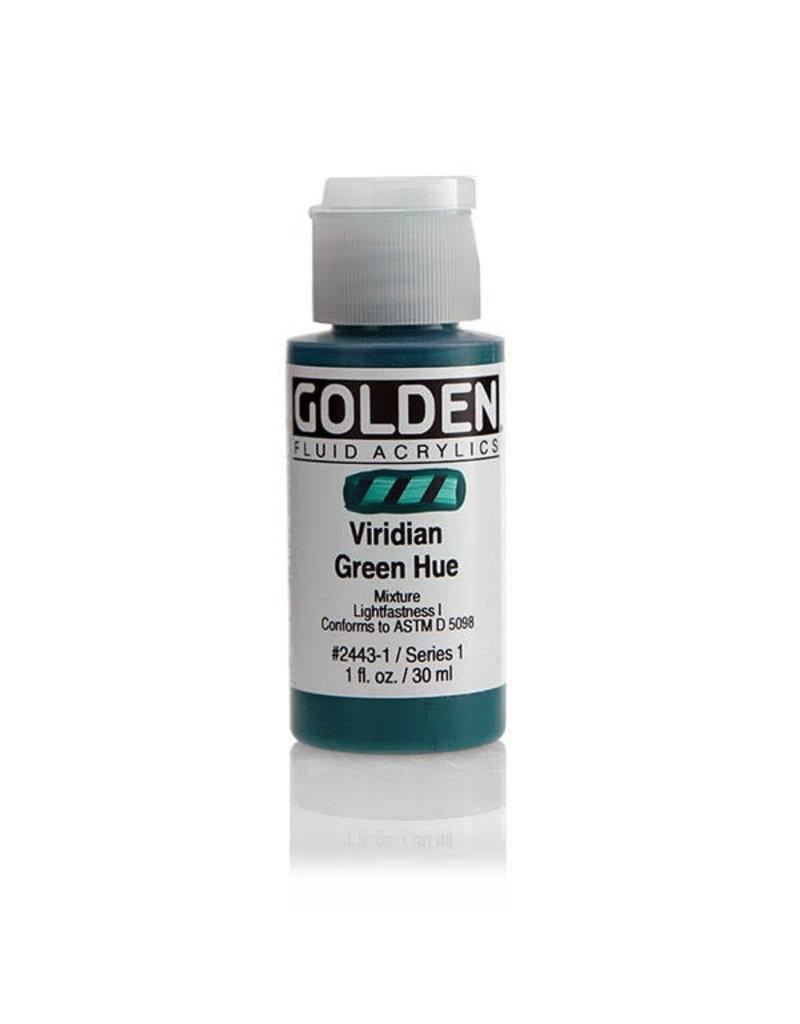 Golden Fluid Hist. Viridian Green Hue  1Oz