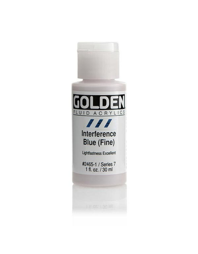 Golden Fluid Interference Blue (Fine)  1Oz