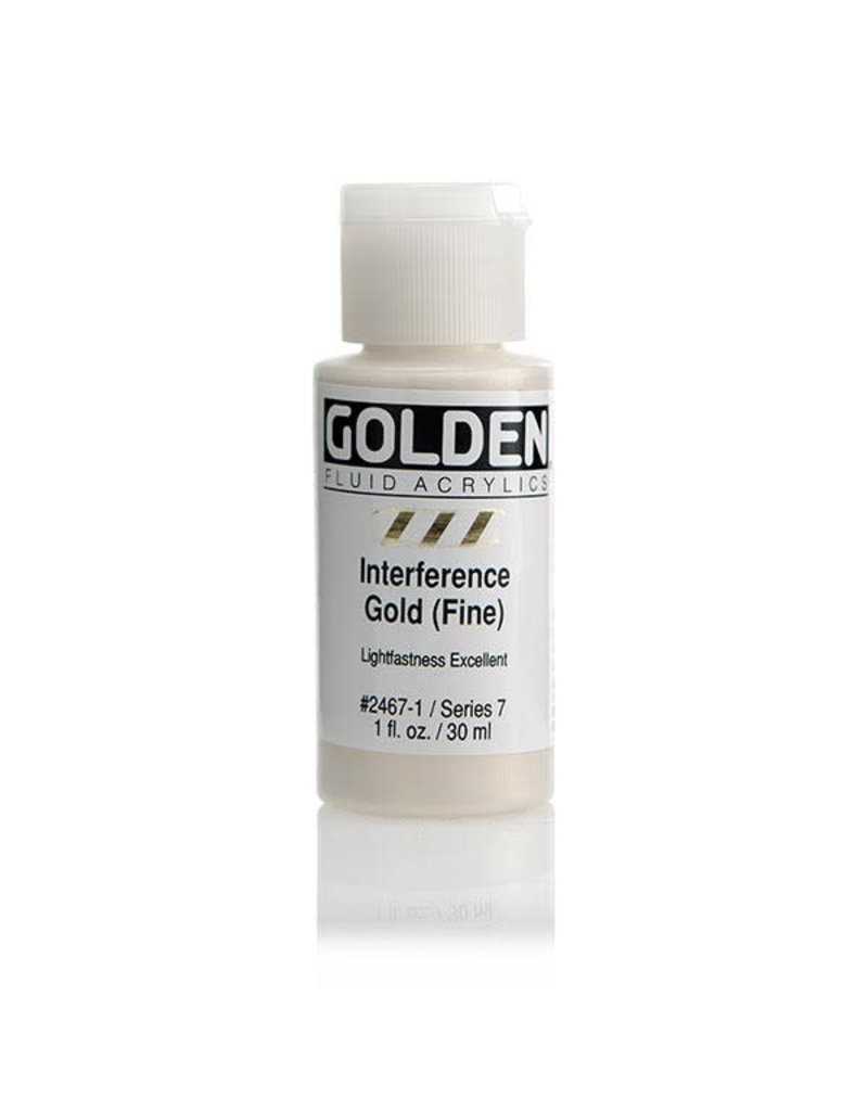 Golden Fluid Interference Gold (Fine)  1Oz