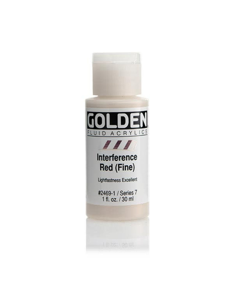 Golden Fluid Interference Red (Fine)  1Oz