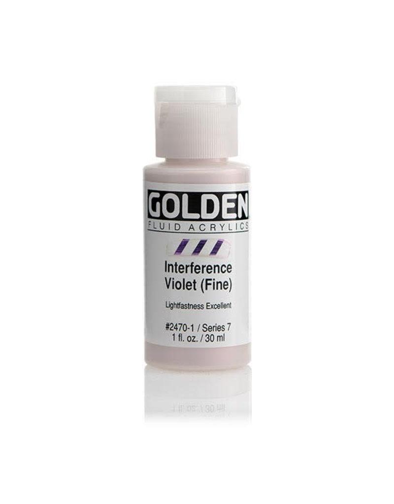 Golden Fluid Interference Violet (Fine)  1Oz