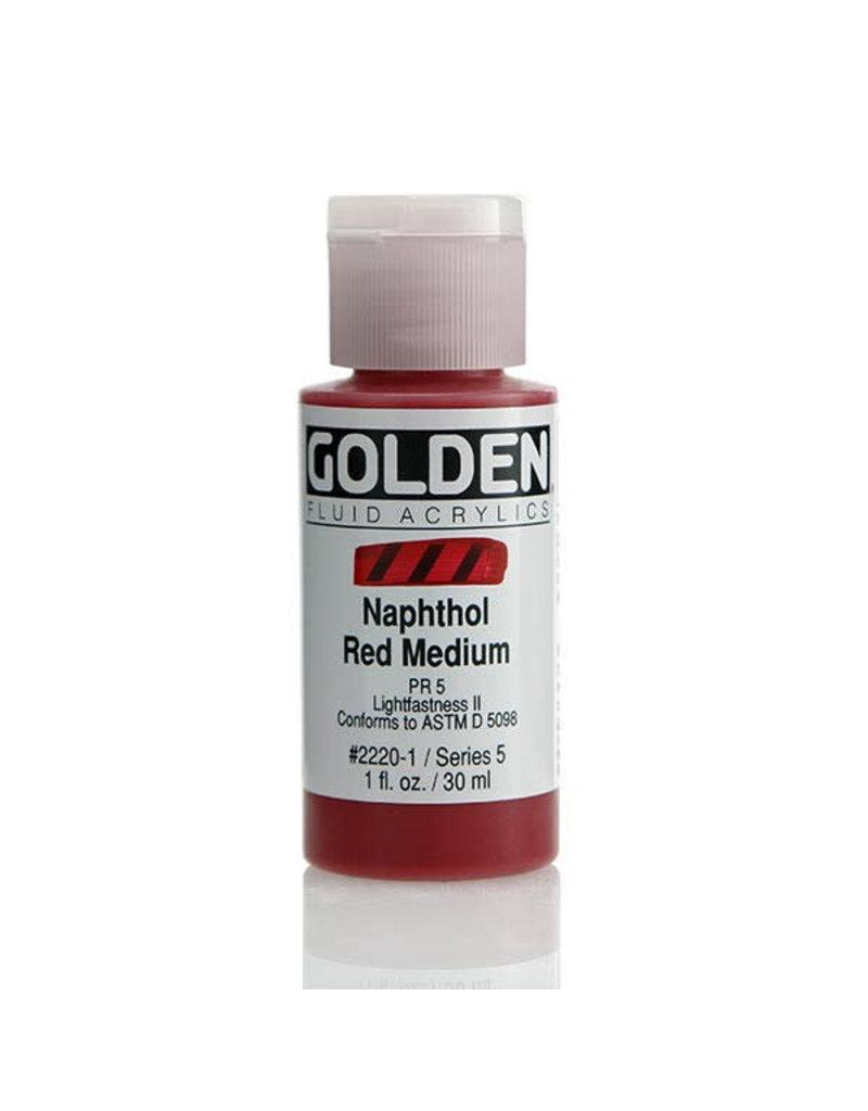 Golden Fluid Naphthol Red Med.  1Oz