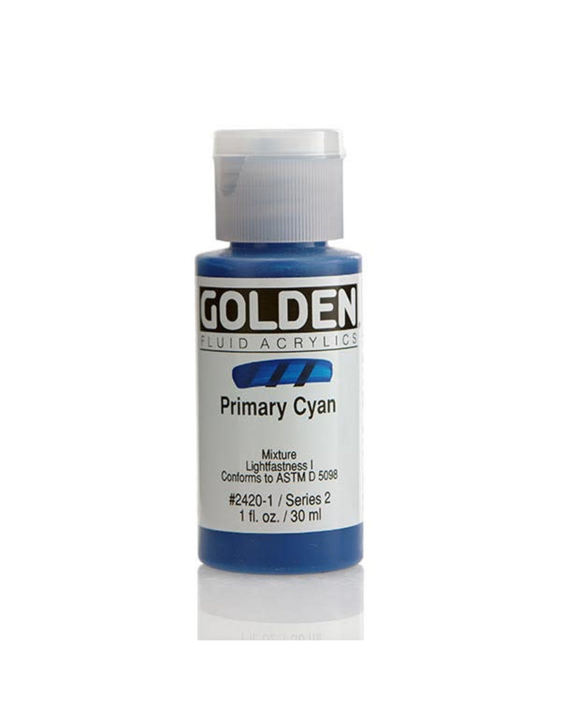 Golden Fluid Primary Cyan  1Oz