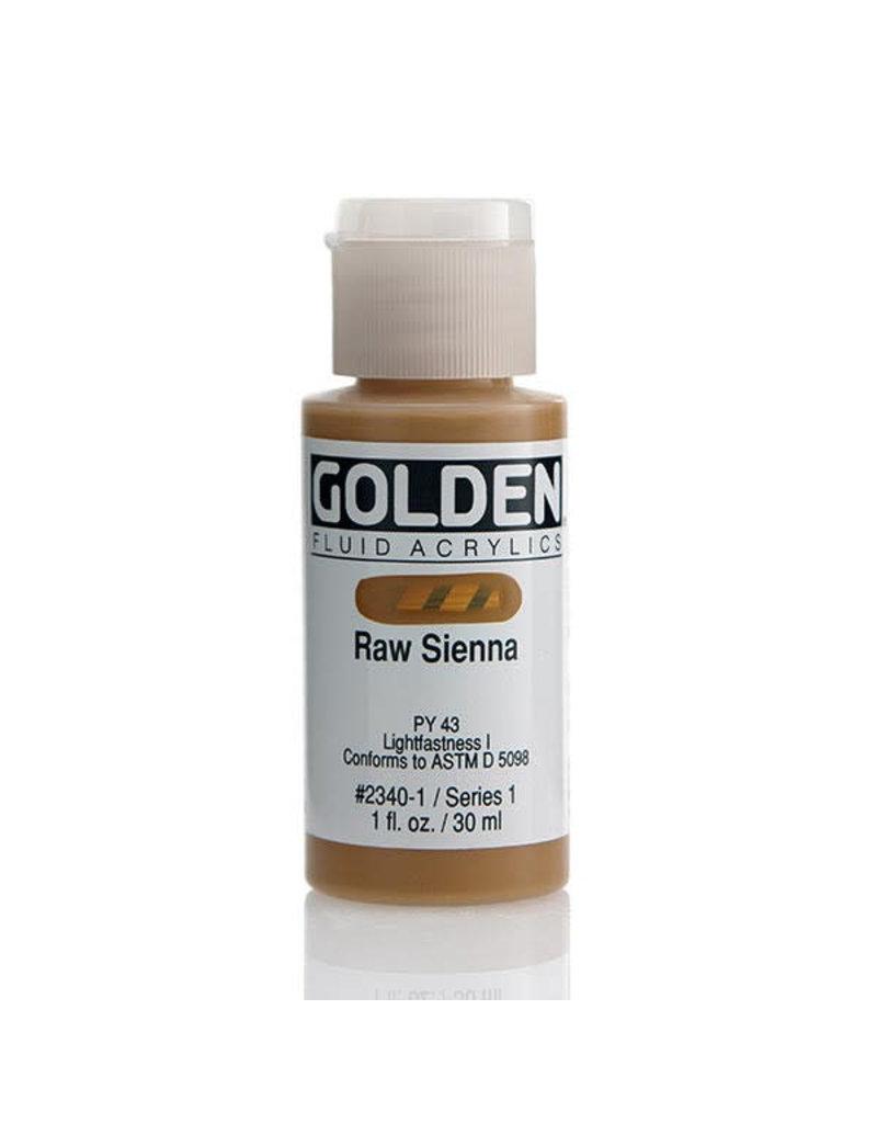 Golden Fluid Raw Sienna  1oz