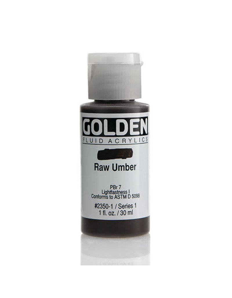 Golden Fluid Raw Umber  1oz