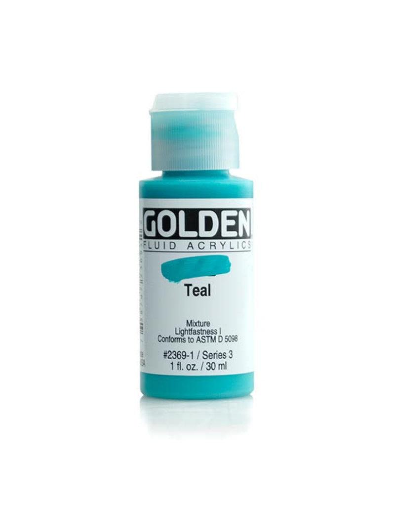 Golden Fluid Teal  1Oz