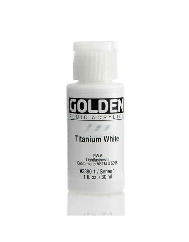 Golden Fluid Titanium White  1oz