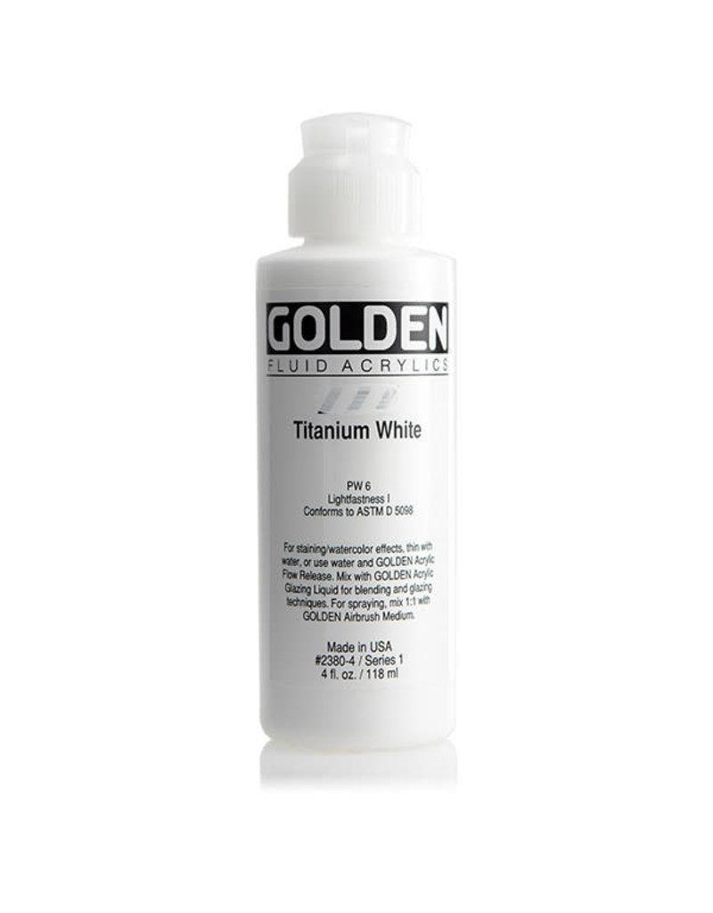 Golden Fluid Titanium White  4 oz