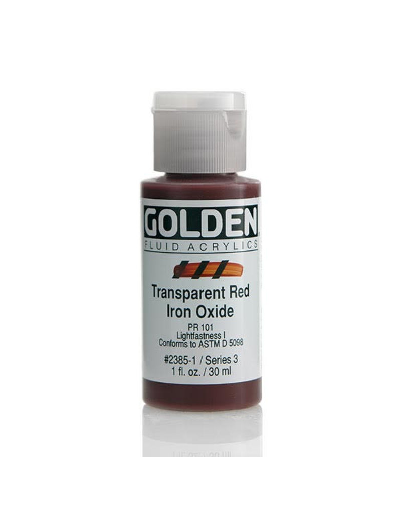 Golden Fluid Trans. Red Iron Oxide 1oz