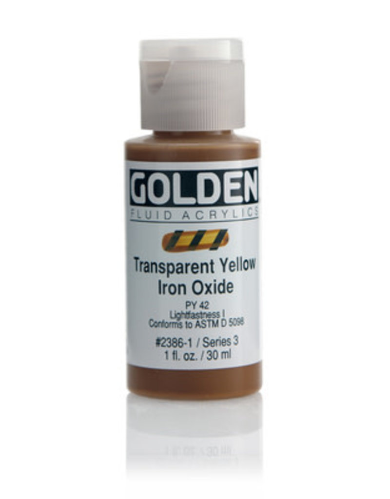 Golden Fluid Trans. Yellow Iron Oxide  1oz