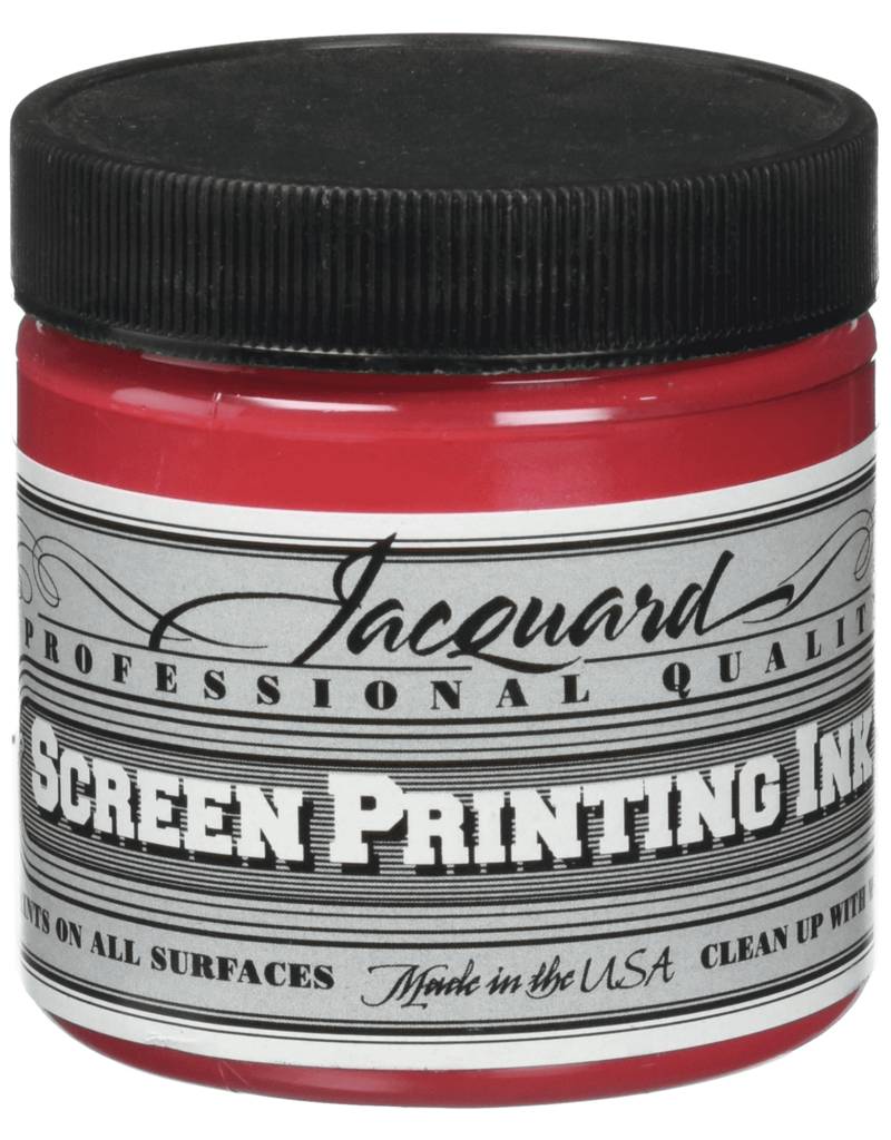 Jacquard Pro Screen Print Ink 4Oz Op Red