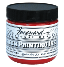 Jacquard Pro Screen Print Ink 4Oz  Red