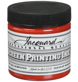 Jacquard Pro Screen Print Ink 4Oz  Bright Red