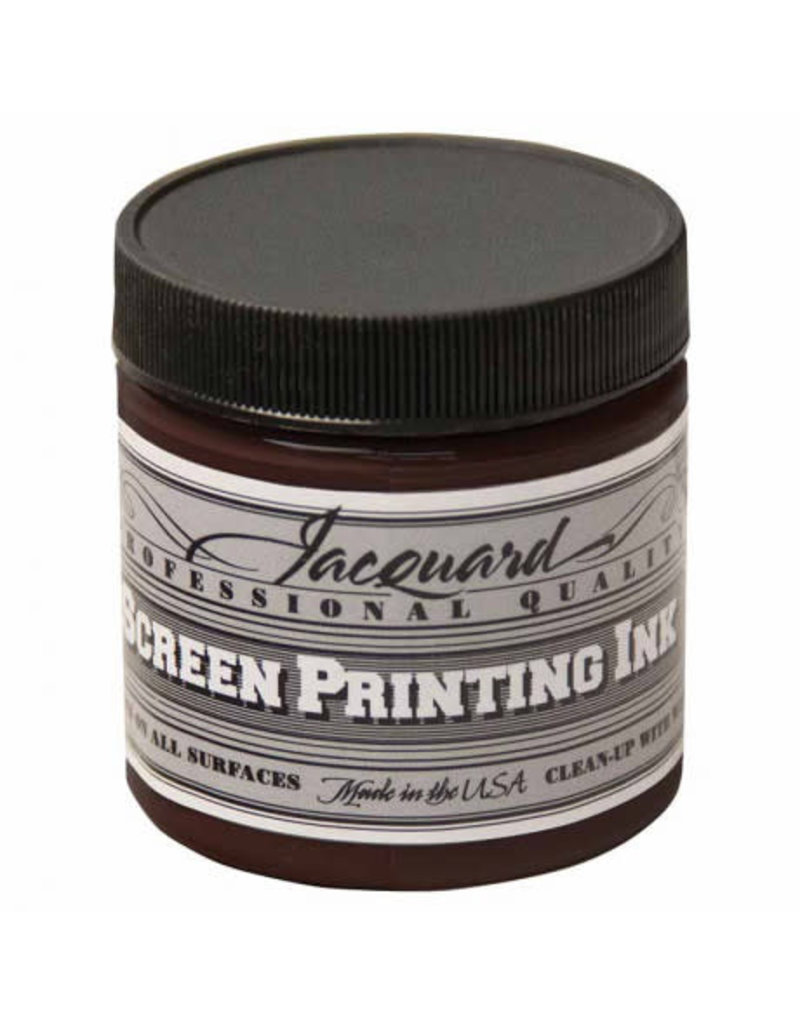 Jacquard Pro Screen Print Ink 4Oz  Brown