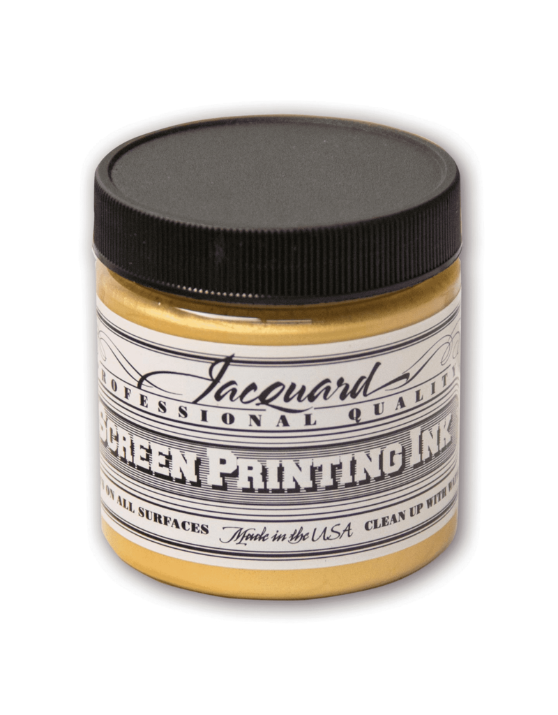 Jacquard Pro Screen Print Ink 4Oz Gold