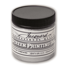 Jacquard Pro Screen Print Ink 4Oz Silver