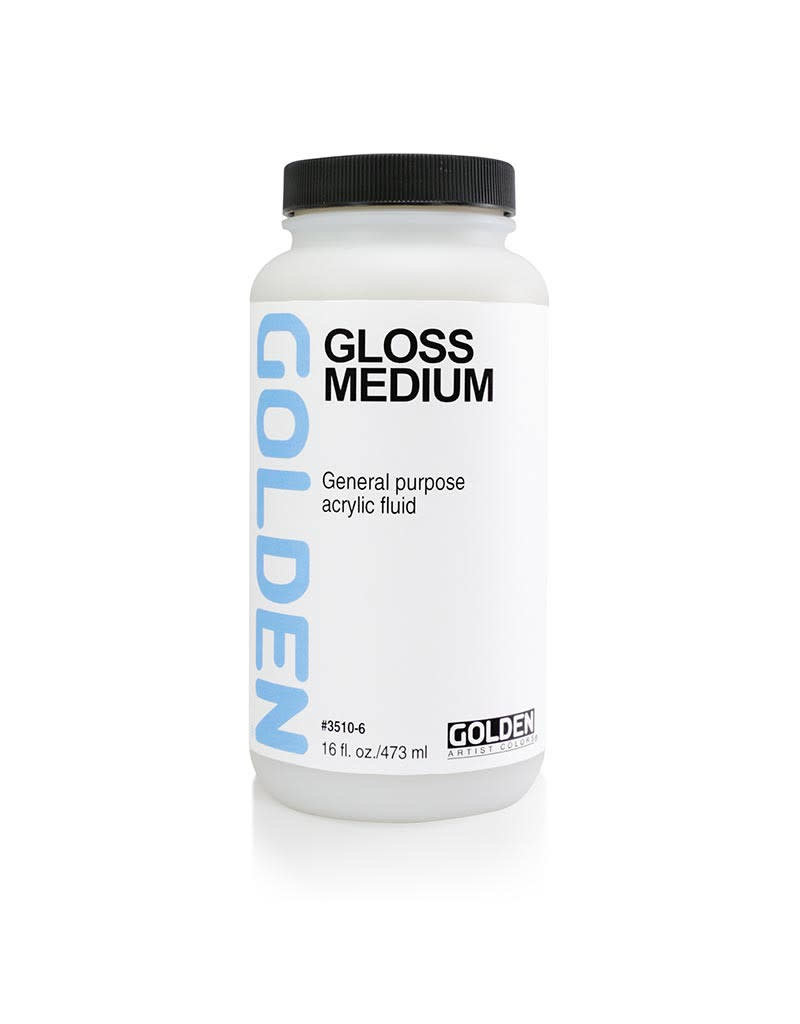 Golden Gloss Medium 8oz- 16 oz