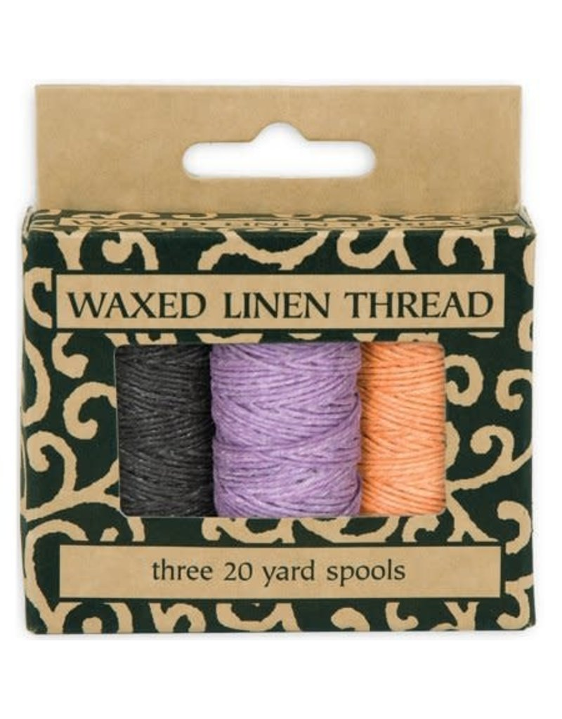 Lineco Linen Thread Waxed 3 Color Pk