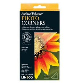Lineco Photo Corners Mylar 1/2 240/Bx