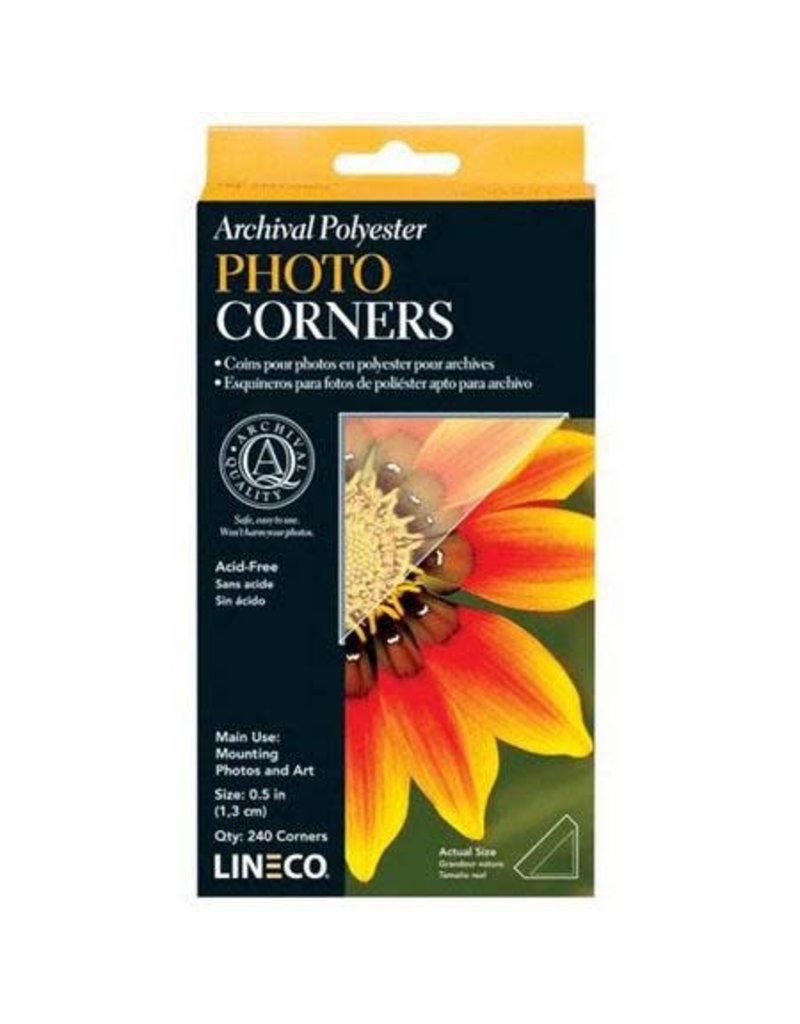 Lineco Photo Corners Mylar 1/2 240/Bx