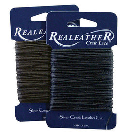 Real Leather Waxed Thread 25 Yds. Black