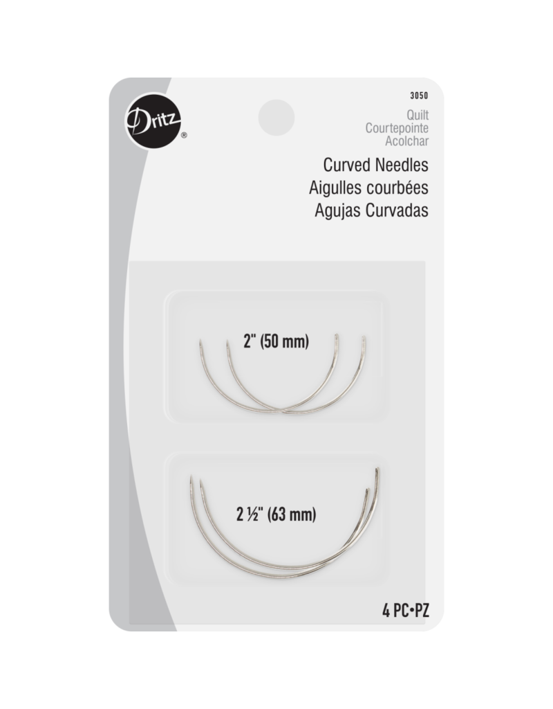 Dritz Curved Hand Sewing Needles 4 Count | D-3050