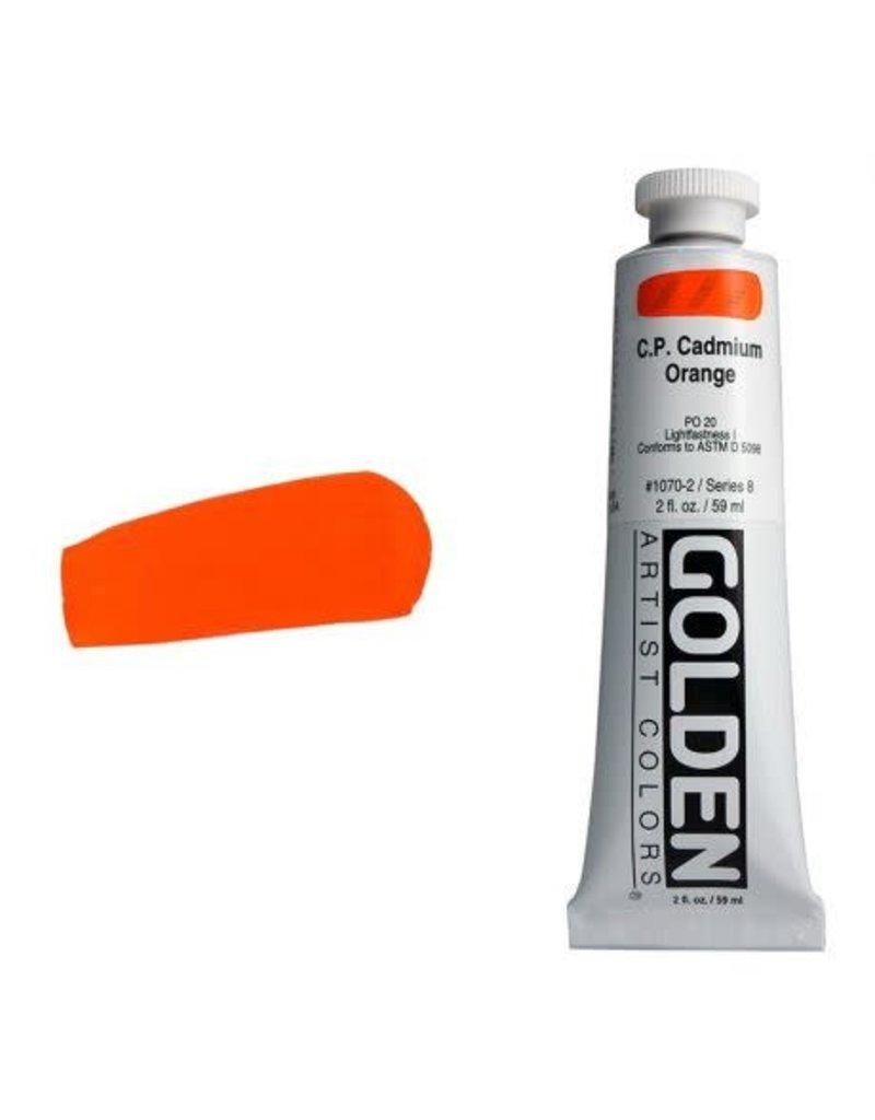 Golden Hb C.P. Cadmium Orange 2oz Tube-2