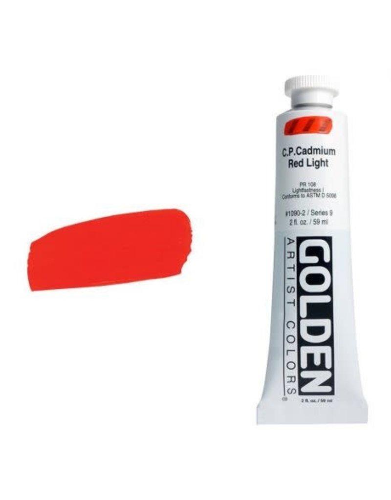 Golden Hb C.P. Cadmium Red Light 2oz Tube-2