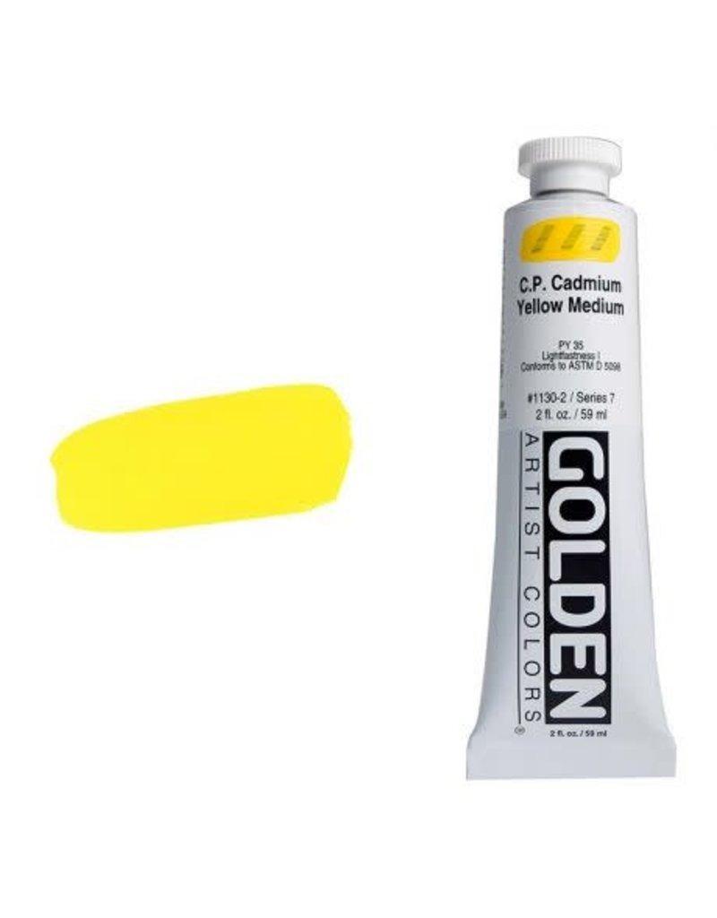 Golden Hb C.P. Cadmium Yellow Medium 2oz Tube-2