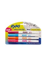 Sanford Expo Low Odor Dry Erase Marker - Asst Ultra Fine 4Pk Bp Fashion
