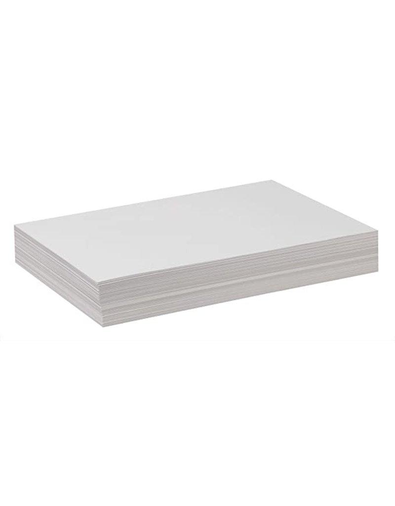 Pacon White Sulphite Drawing Paper Sheet, 12'' x 18'' Medium Weight