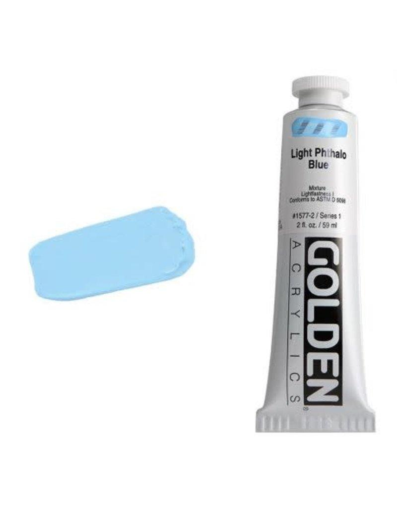 Golden Hb Light Phthalo Blue 2oz Tube-2