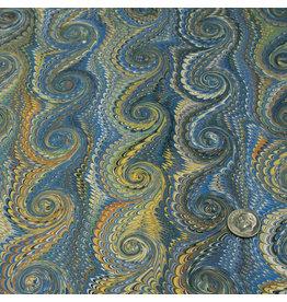Talas Italian Marbled Paper FF Blue #758