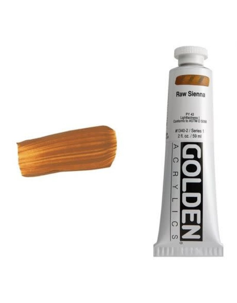 Golden Hb Raw Sienna 2oz Tube-2