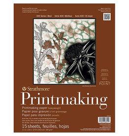 Strathmore Printmaking Heavy-weight Pads 400 Series, 11'' x 14'' - 15 Shts./Pad - Glue Bound