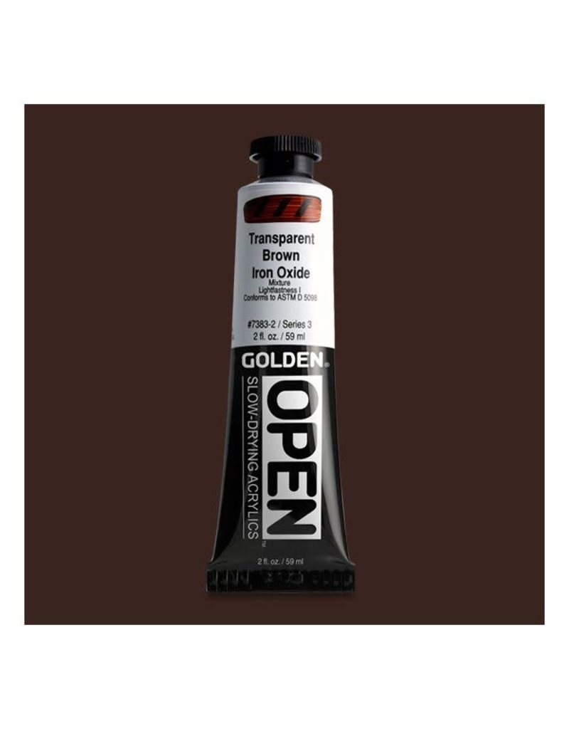 Golden Hb Transp Brown Iron Oxide 2oz Tube-2
