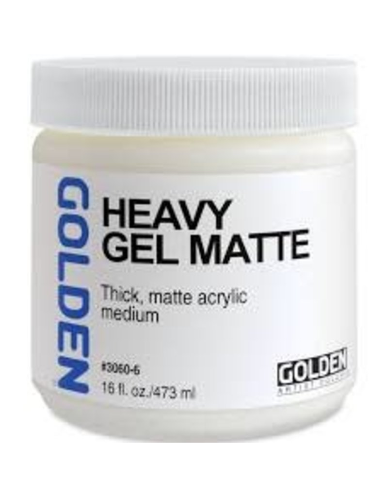 Golden Heavy Gel Matte 16 oz- 16 oz