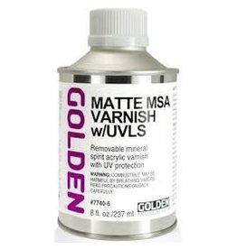 Golden Matte Msa Varnish W/Uvls 8 oz
