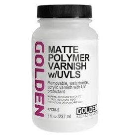 Golden Matte Polymer Varnish W/Uvls  8 oz
