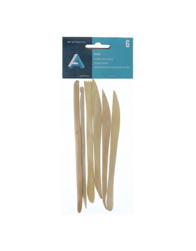 Art Alternatives Miniature Boxwood Modeling Tools, 6 Pieces
