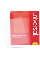 Universal Transparent Sheets, B&W Laser/Copier, Letter, Clear, 100/Pack