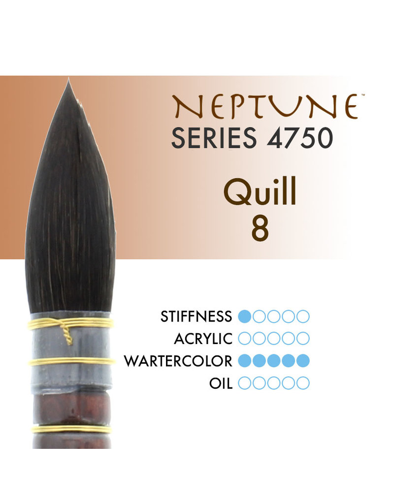Princeton Neptune Syn Squirrel Quill 8
