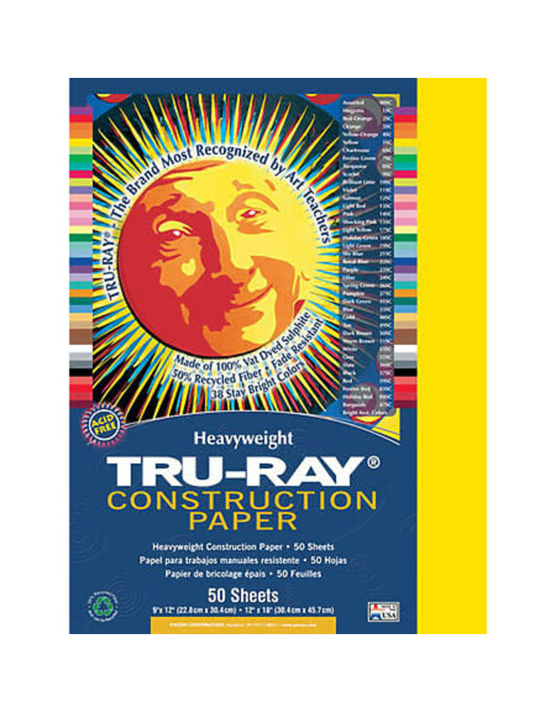 Pacon Tru-Ray Construction Paper, 12'' X 18'', Assorted Colors