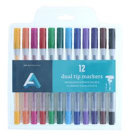 Art Alternatives Dual Tip Marker Sets, 12-Marker Set